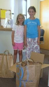 Abigail & Clara Ames (Clara 7 yr old bday party donations)