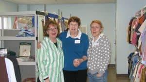 Cathy, Lorraine, Joanna volunteer pic
