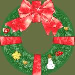 Image of Christmas wreath drawing.
