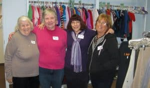 Clothing room ladies volunteer pic