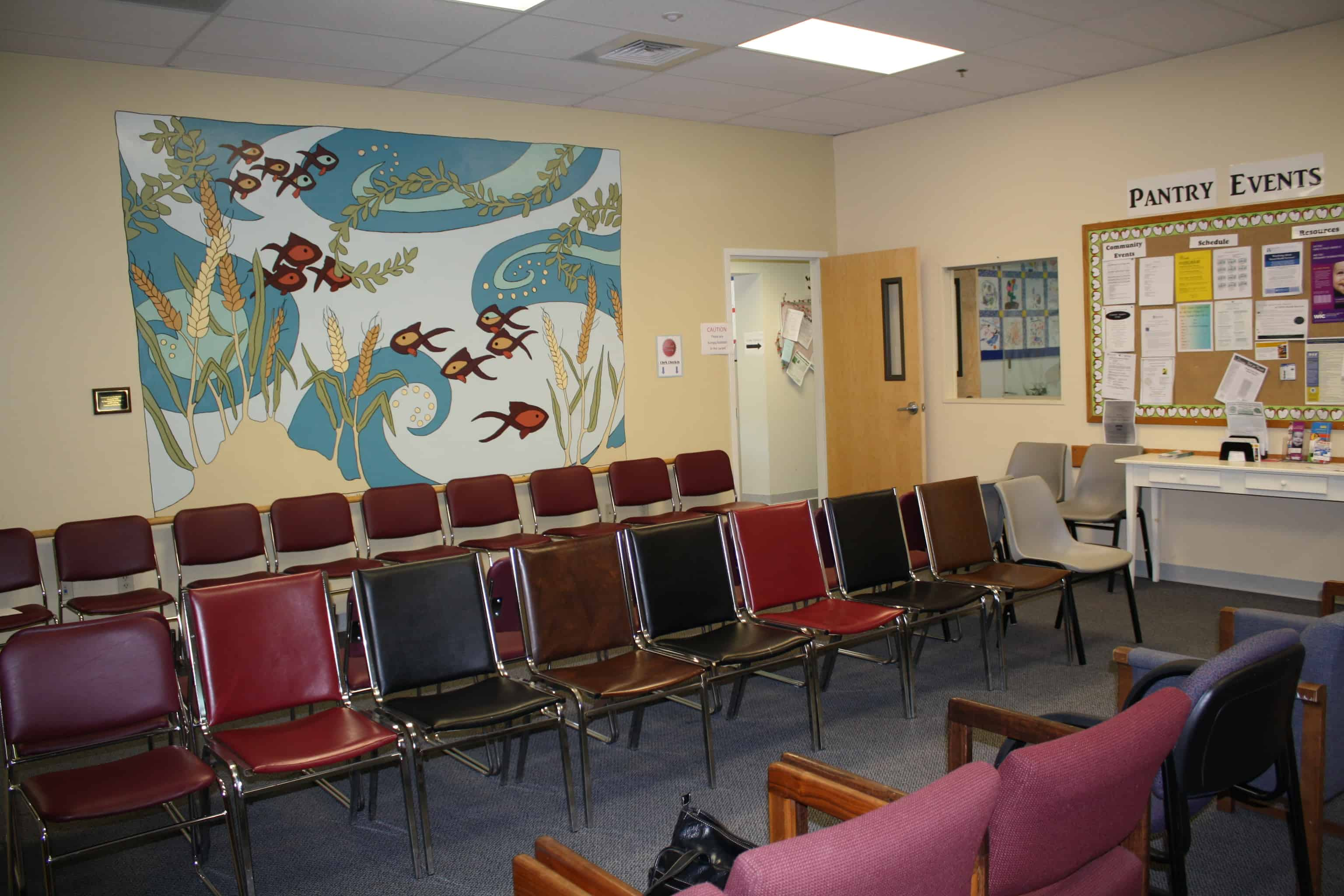 You will then have a seat in our waiting room. When your number is called, you will meet with a volunteer steward.