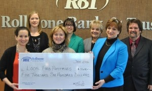 Rollstone bank donation April Newsletter